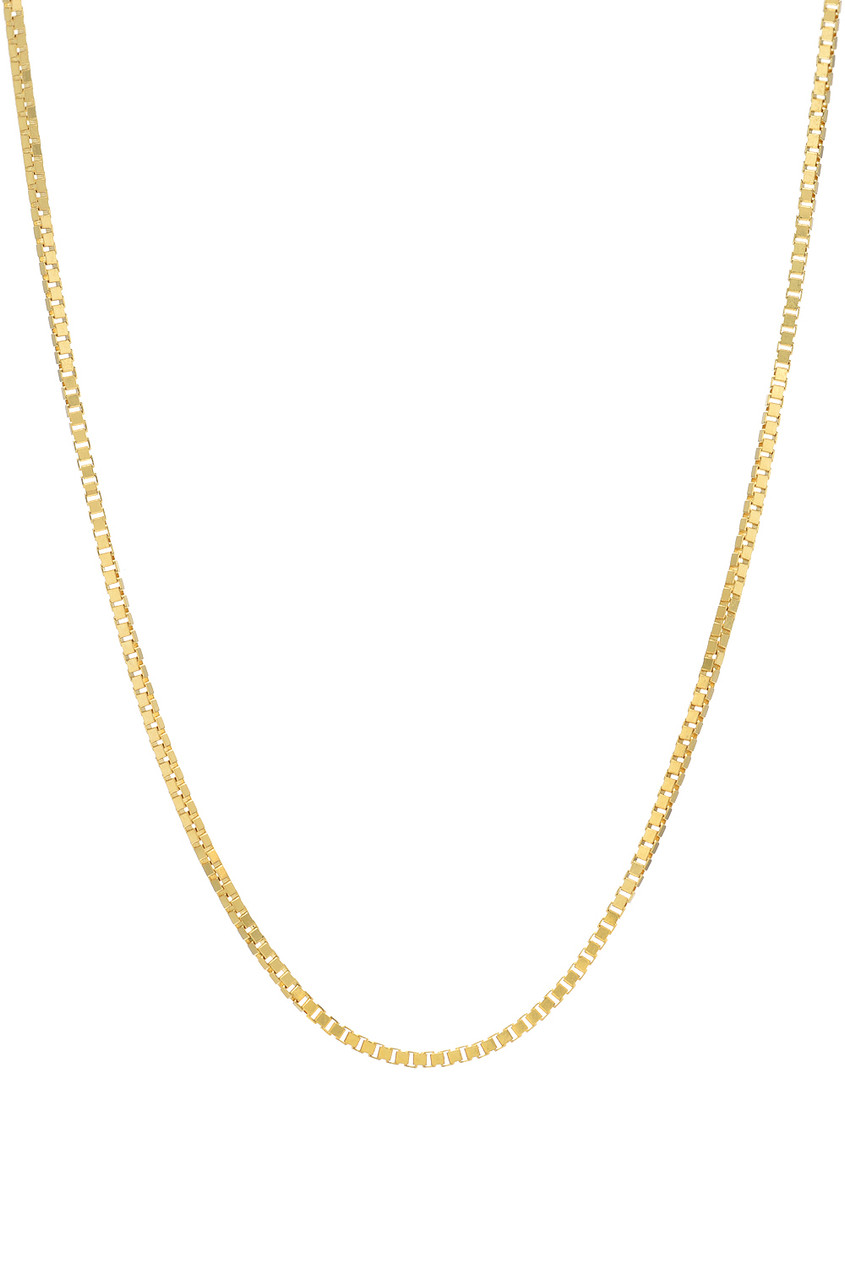 14k Gold Box Chain Link Necklace