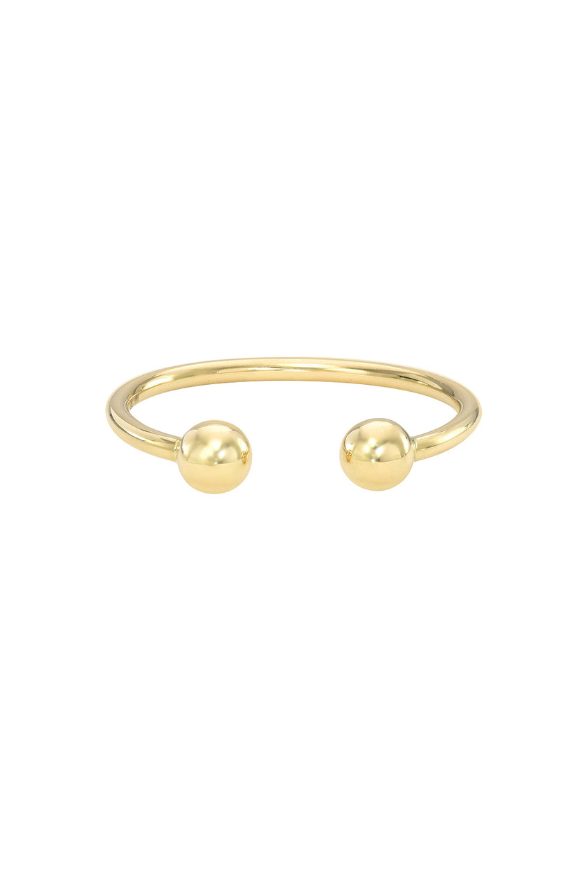 14k Gold Bead Cuff Ring