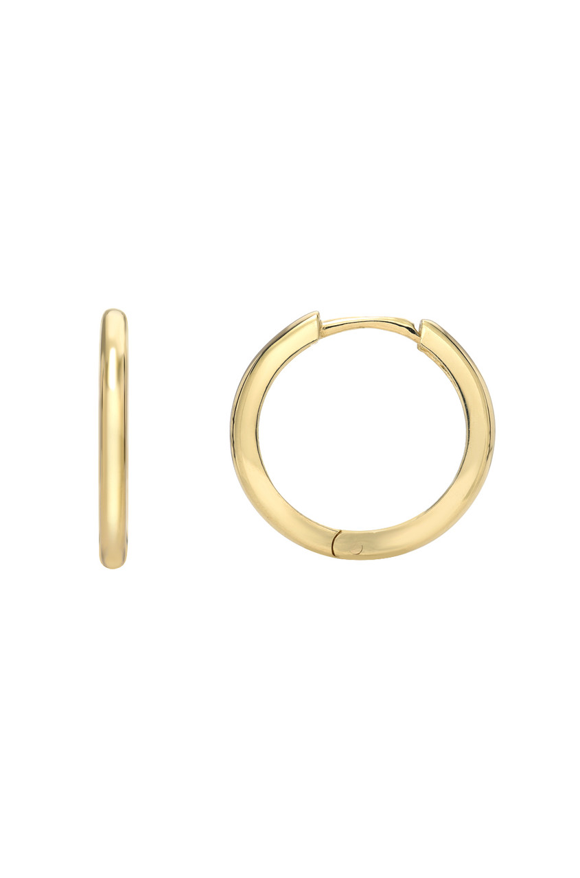 14k. Gold Large Huggie Earrings