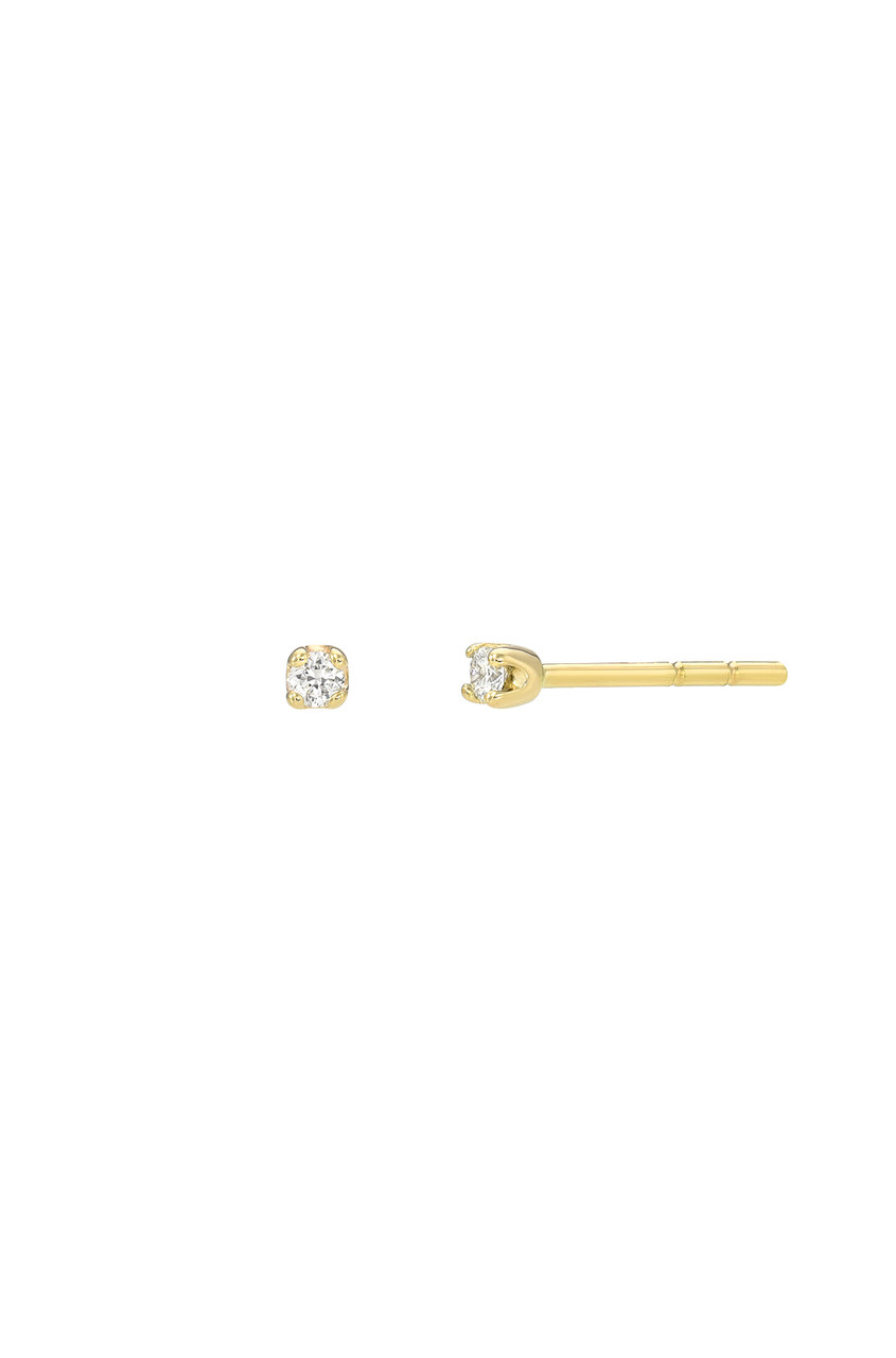 Mini 4 Prong Diamond Stud Earrings
