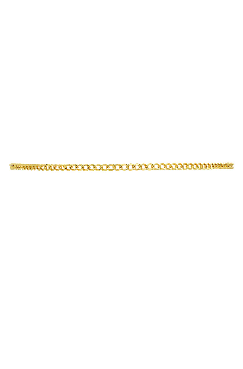 14k Gold Thin Cuban Link Choker