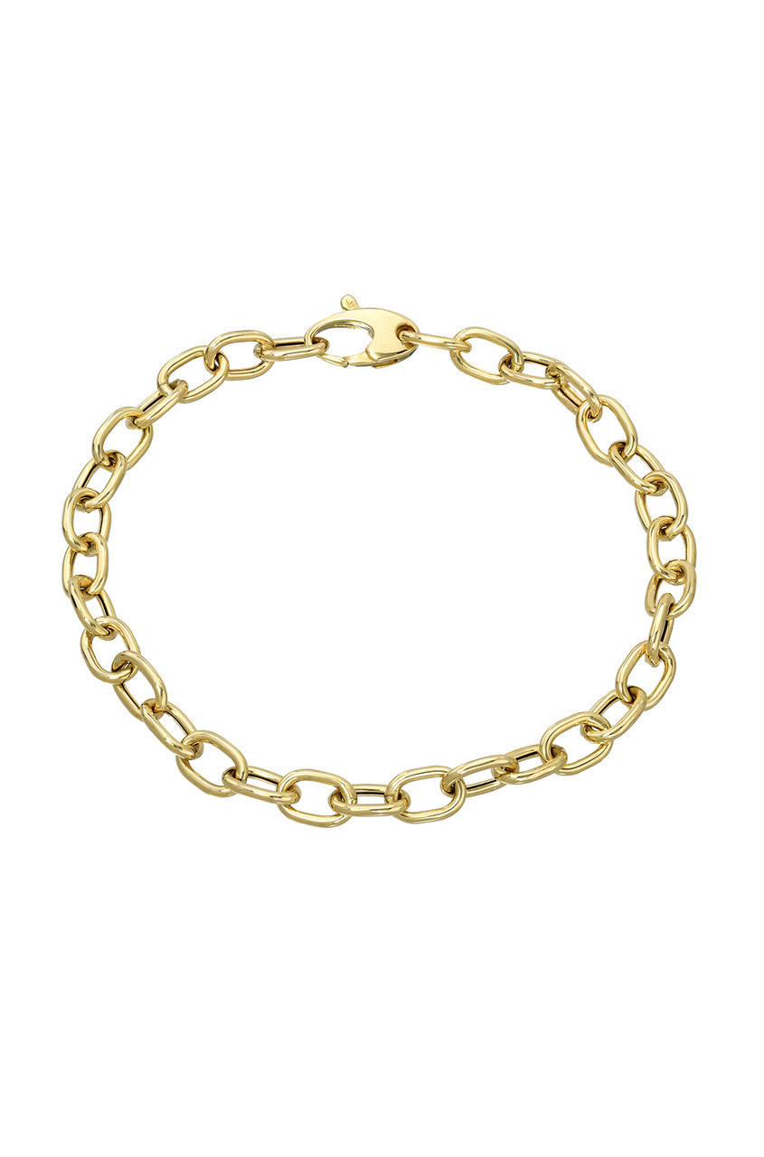 14k Gold Anchor Chain Link Bracelet