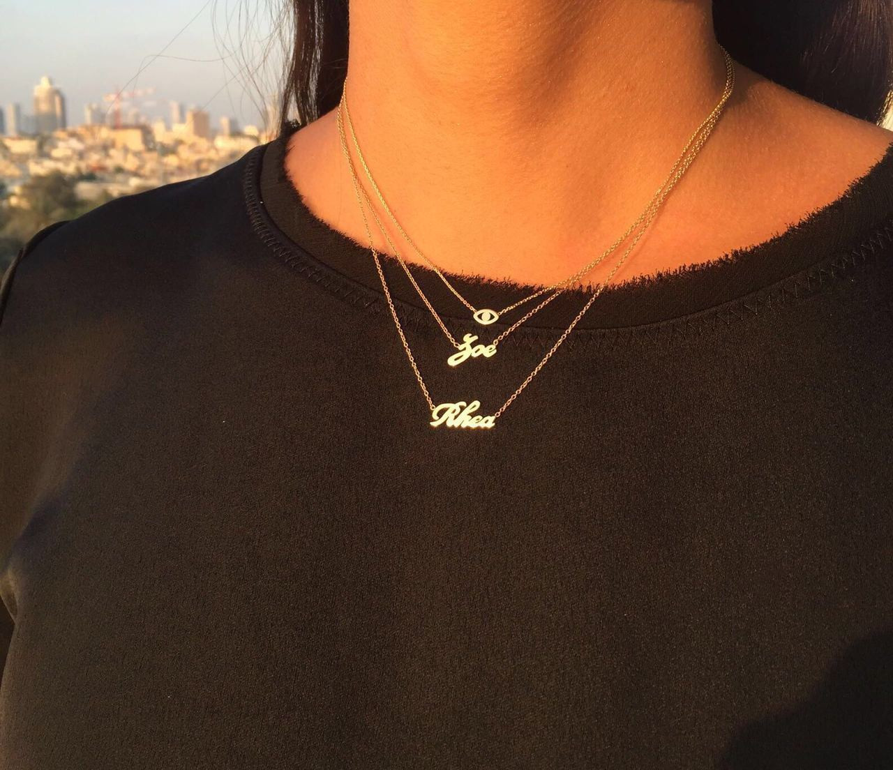 14k Gold Script Name Necklace