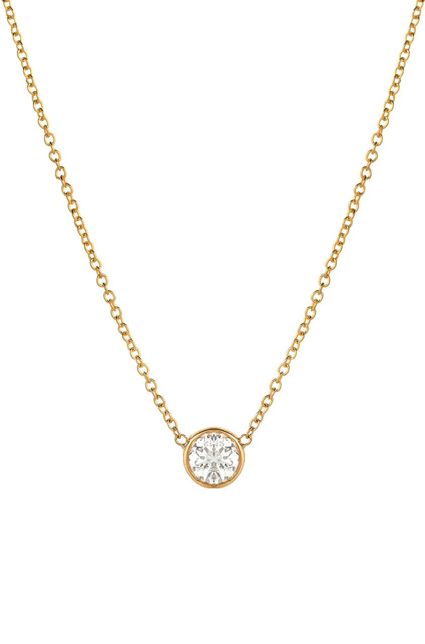Large Bezel Diamond Necklace