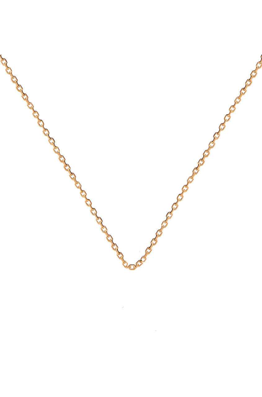 14k gold cable link chain necklace