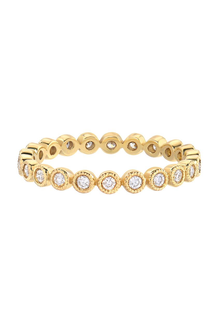 bezel diamond eternity ring