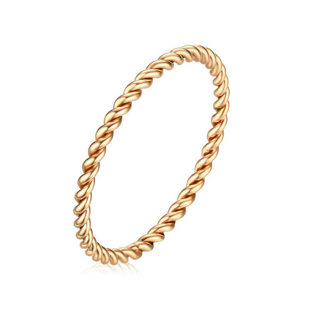 14k gold twist band