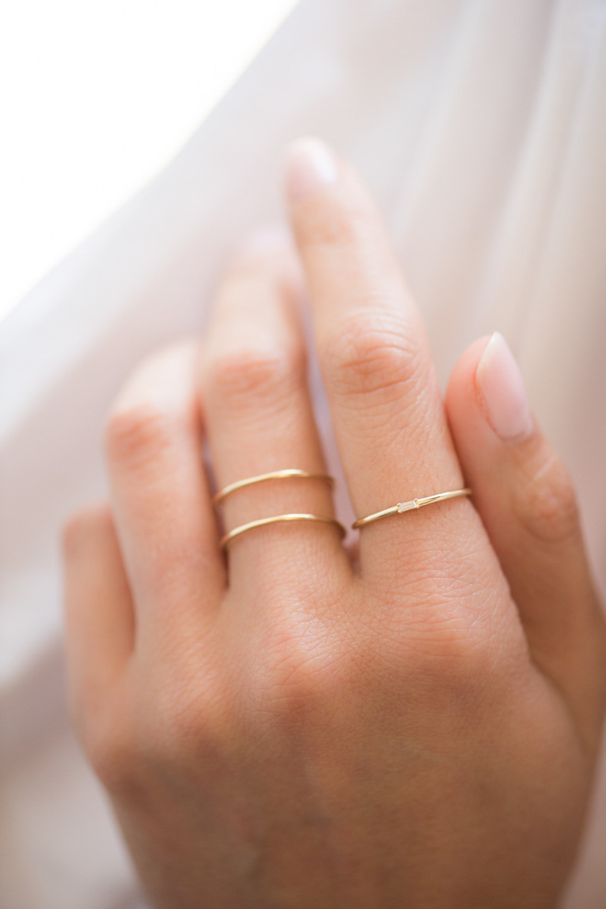 14k Gold Double Band Ring