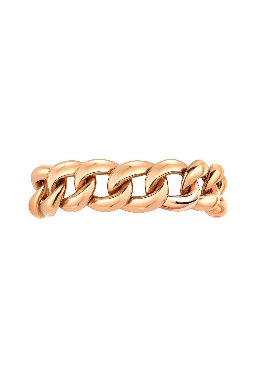 14k gold cuban link ring