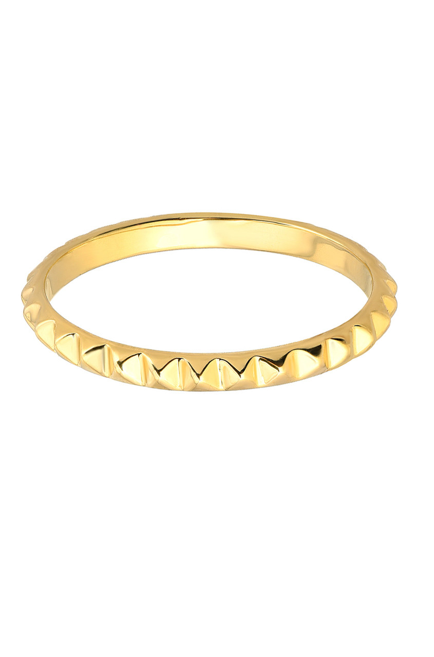 14k gold spike band
