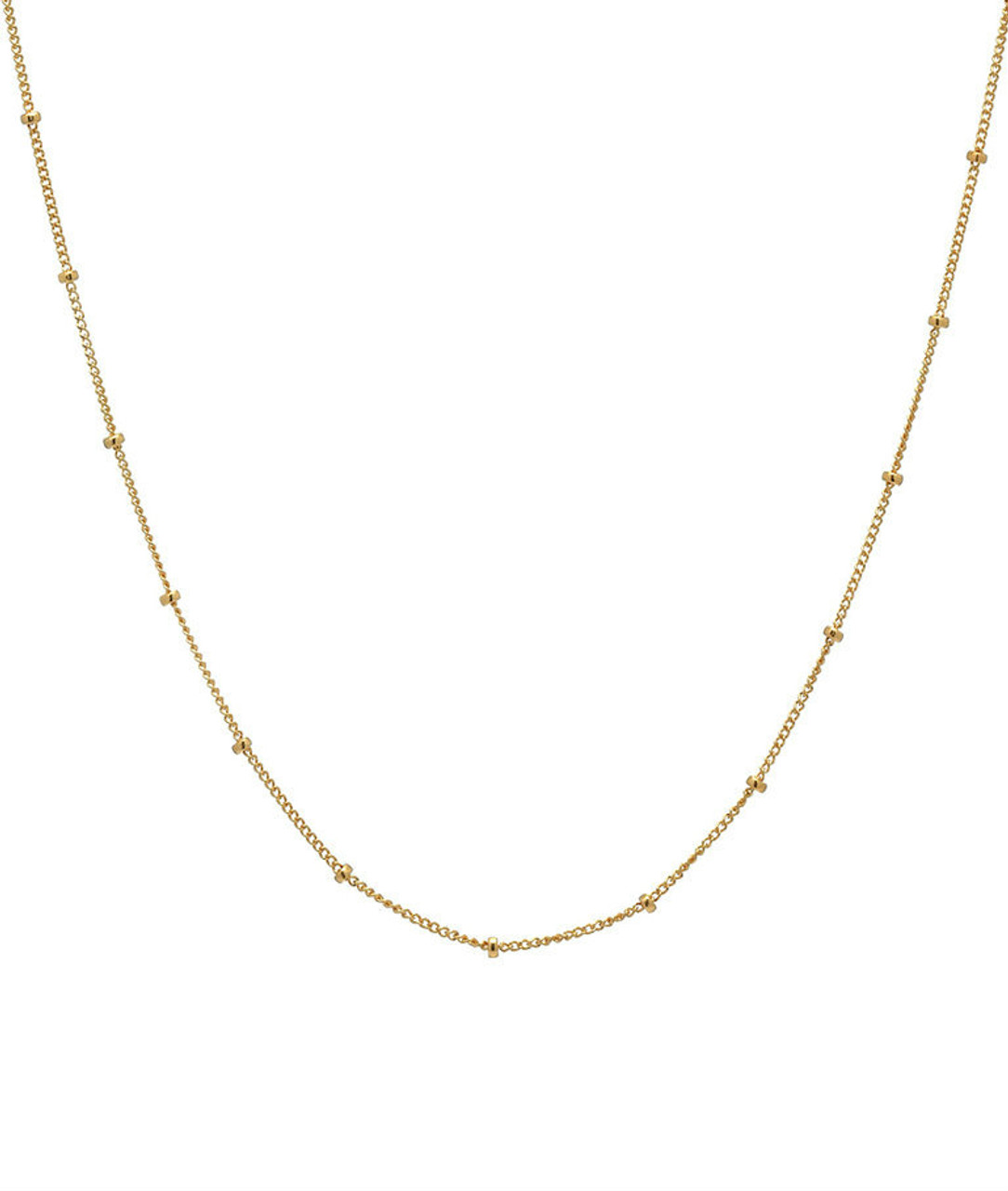 14k. gold segment chain link necklace
