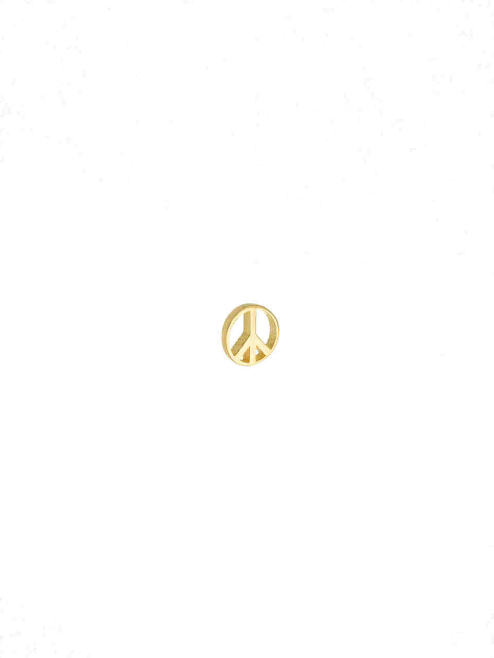 14k Gold Peace Sign for Locket