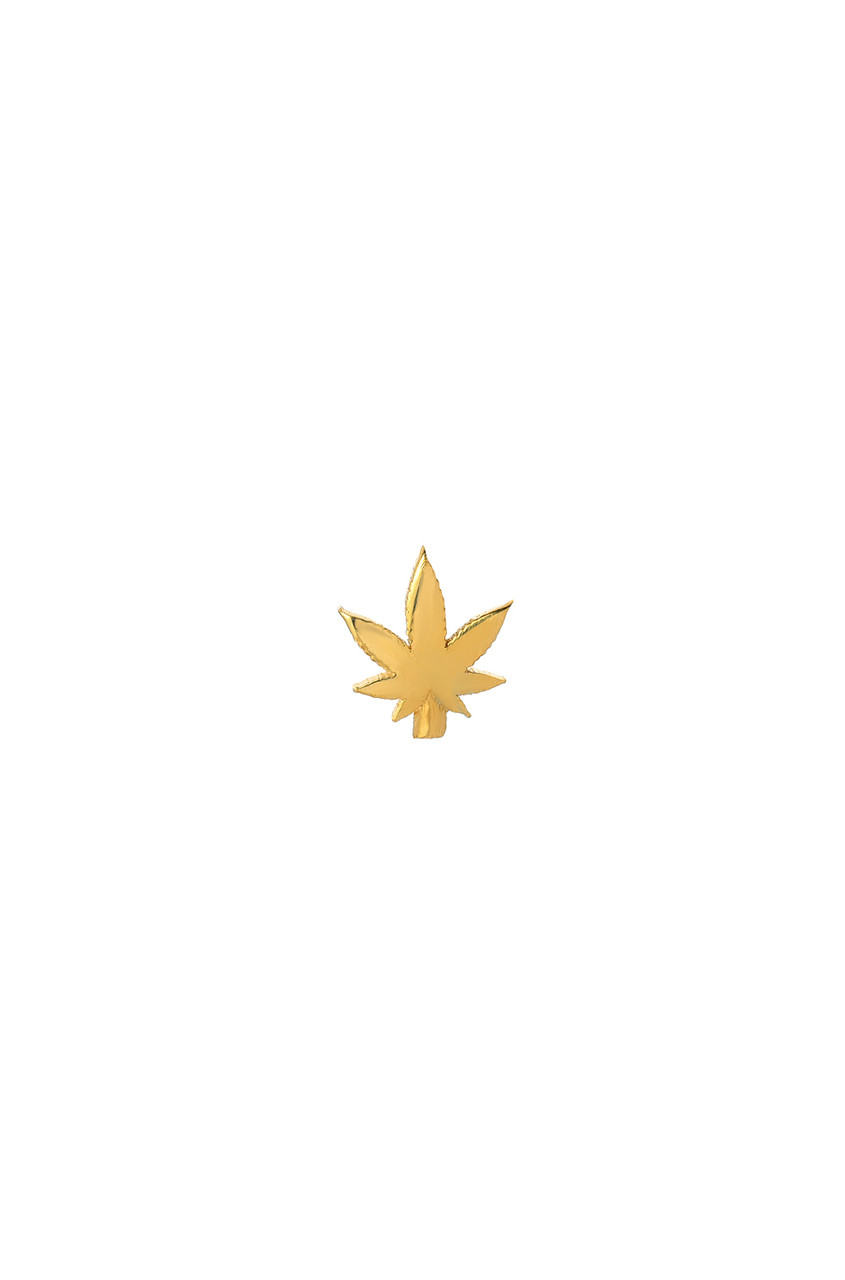 14k Gold Marijuana Leaf for Locket