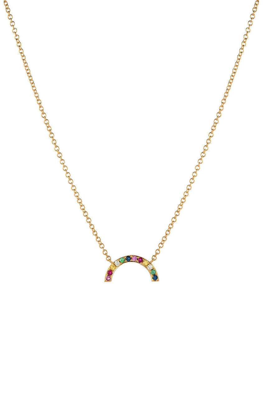 14k Gold Rainbow Necklace