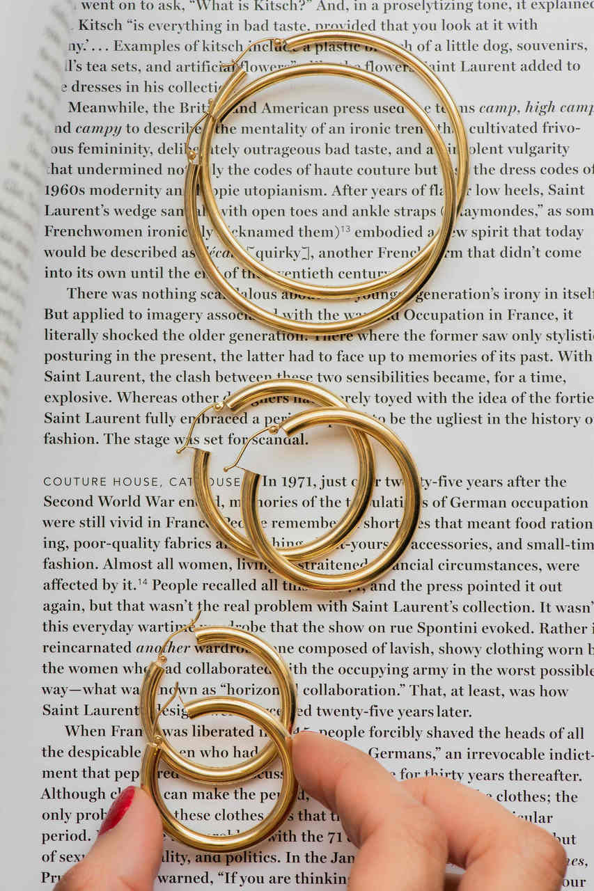 14k gold small  thick hoops