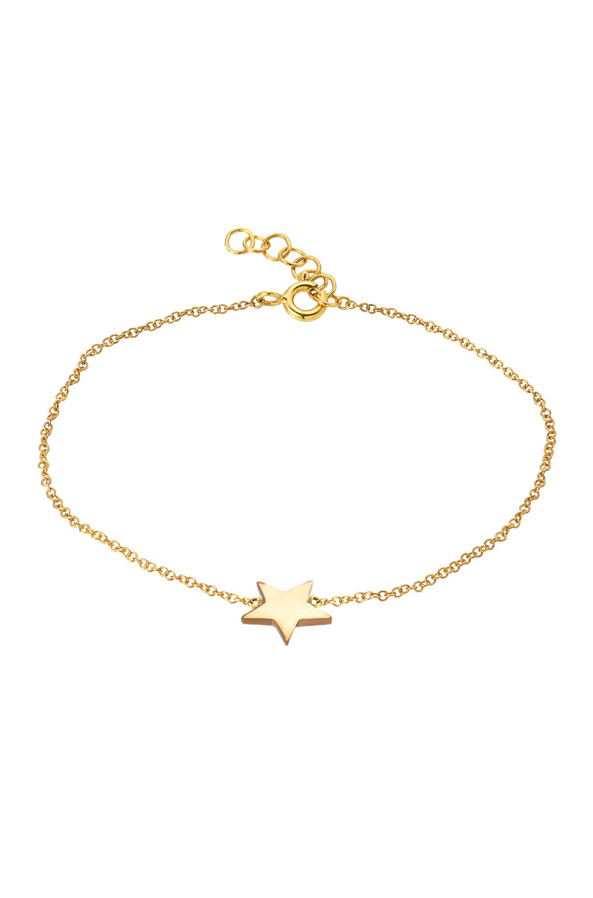 14k gold star anklet