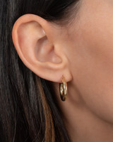 14k Gold Small Thick Hoop Earrings