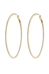 diamond large hoops