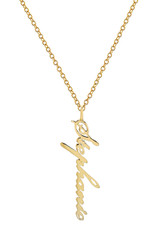 14k Gold Name Pendant Necklace