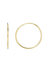 14k Gold Medium Thread Hoop Earrings