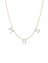 Diamond Spaced Initial Necklace