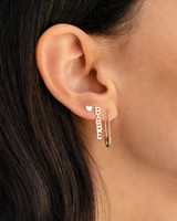 14k Gold Safety Pin Earring