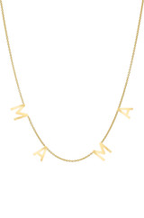 14k Gold Spaced MAMA Necklace