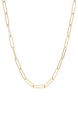 14k Gold Paper Clip Chain Necklace - Out of Stock