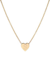 14k Gold Initial Heart Necklace