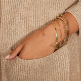 14k Gold Paper Clip Chain Bracelet - Out of Stock