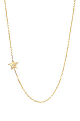 14k Gold Diamond Star Asymmetrical Necklace