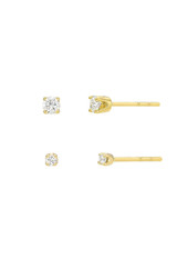 4 Prong Diamond Stud Earrings