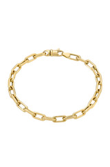14k. Gold Large Open Link Chain Bracelet.