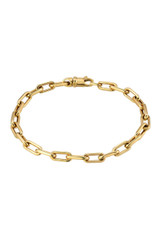 14k. Gold Extra Large Open Link Chain Bracelet