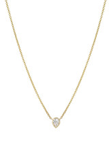Pear Diamond Bezel Necklace