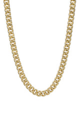 14k Gold  Extra Large Curb Link Chain Necklace