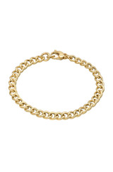 14k Gold Large Curb Link Chain Bracelet