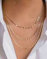 14k. Gold Mirror Chain Link Necklace