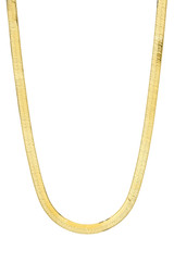 14k Gold Large Herringbone Necklace