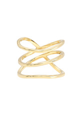 14k Gold Organic Trio Ring