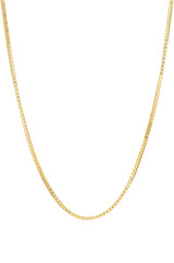 14k. Gold Box Chain Necklace
