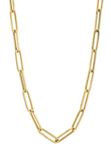 14k Gold Extra Large Paper Clip Chain Necklace - Out of Stock