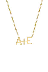 14k Gold Equation Necklace