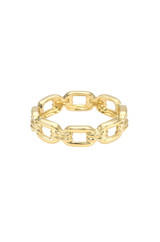 14k Gold  Square Link Ring - Out of Stock