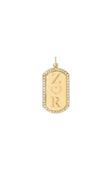 Diamond Mini Dog Tag Pendant