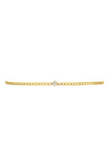 Cuban Link Choker Pear Diamond