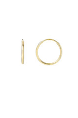 14k Gold Mini Thread Hoop Earrings