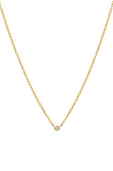 Mini Bezel Diamond Necklace