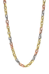 14k Gold Multi Tone Oval Link Chain Necklace- Out of Stock