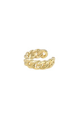 14k Gold Cuban Link  Ear Cuff